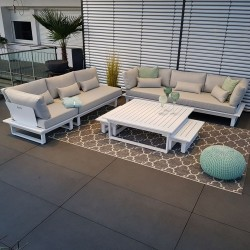garden lounge garden furniture lounge set St. Tropez aluminium white Lounge module set luxury exclusive weatherproof outdoor