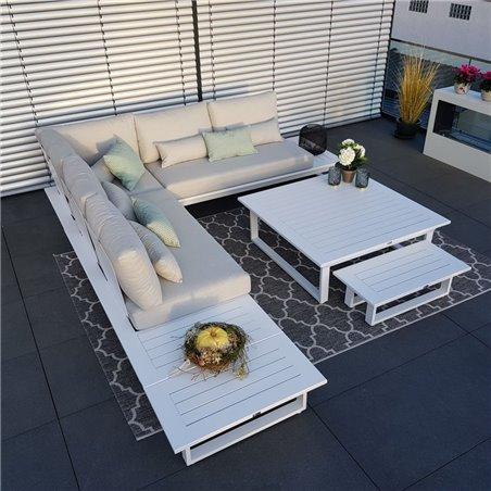 Salon de jardin salon de jardin ensemble lounge Module de chaise longue en aluminium gris anthracite